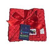 Reversible Unisex Children's Soft Baby Blanket Minky Dot (Choose Color) (Red)