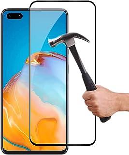 Lapinette Fullt Härdat Glas Kompatibelt med Huawei P40 - Skärmskydd i Härdat Glas P40 Fullt - 9H Force Glass - Fullt Skärm...
