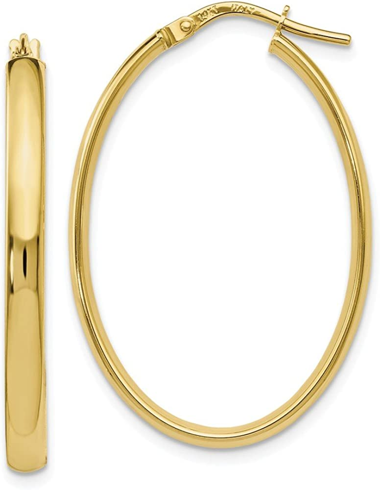 Leslie's 10K Polished Oval Hoop 5 ☆ Attention brand popular Earrings