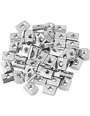 50 stks/partij Aluminium Profiel Moer, Sliding T-slot Moer, T-Noten voor Aluminium Profiel Accessoires, met Clear Box, T-moeren voor CNC machine