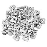 Dado Profilo in Alluminio 50 Pz/lotto, Dado Scorrevole con T-Scanalatura Testa, T Dadi con...