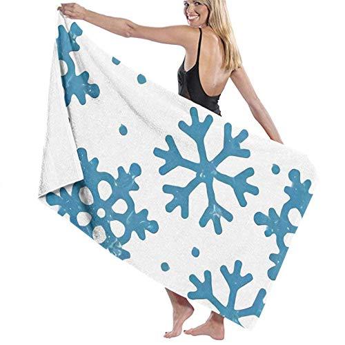 LREFON Snowfall Snowflake Toallas de baño Moda Toalla de Ducha de Secado rápido Personalidad Toalla de natación de Playa Suave (31.5X51.2 Pulgadas)