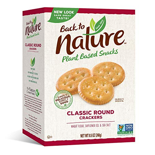 Back to Nature Crackers, Non-GMO Classic Rounds, 8.5 Ounce (Packaging May Vary)
