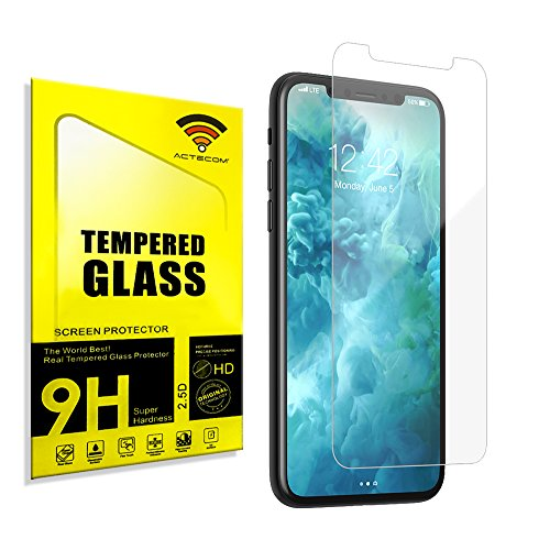 "actecom® Protector Pantalla Compatible con iPhone 11 Pro/iPhone X/iPhone XS Cristal Templado 5.8"" 9H 2.5D Case Friendly"