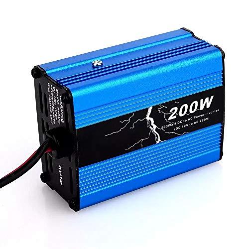ZHANGJA Inversor 12V 220V 300W Adaptador Fuente De AlimentacióN Convertidor Modificado Inversor De Coche 200W 50hz Cargador De Coches Powers Dc5v 500ma (MáX.)