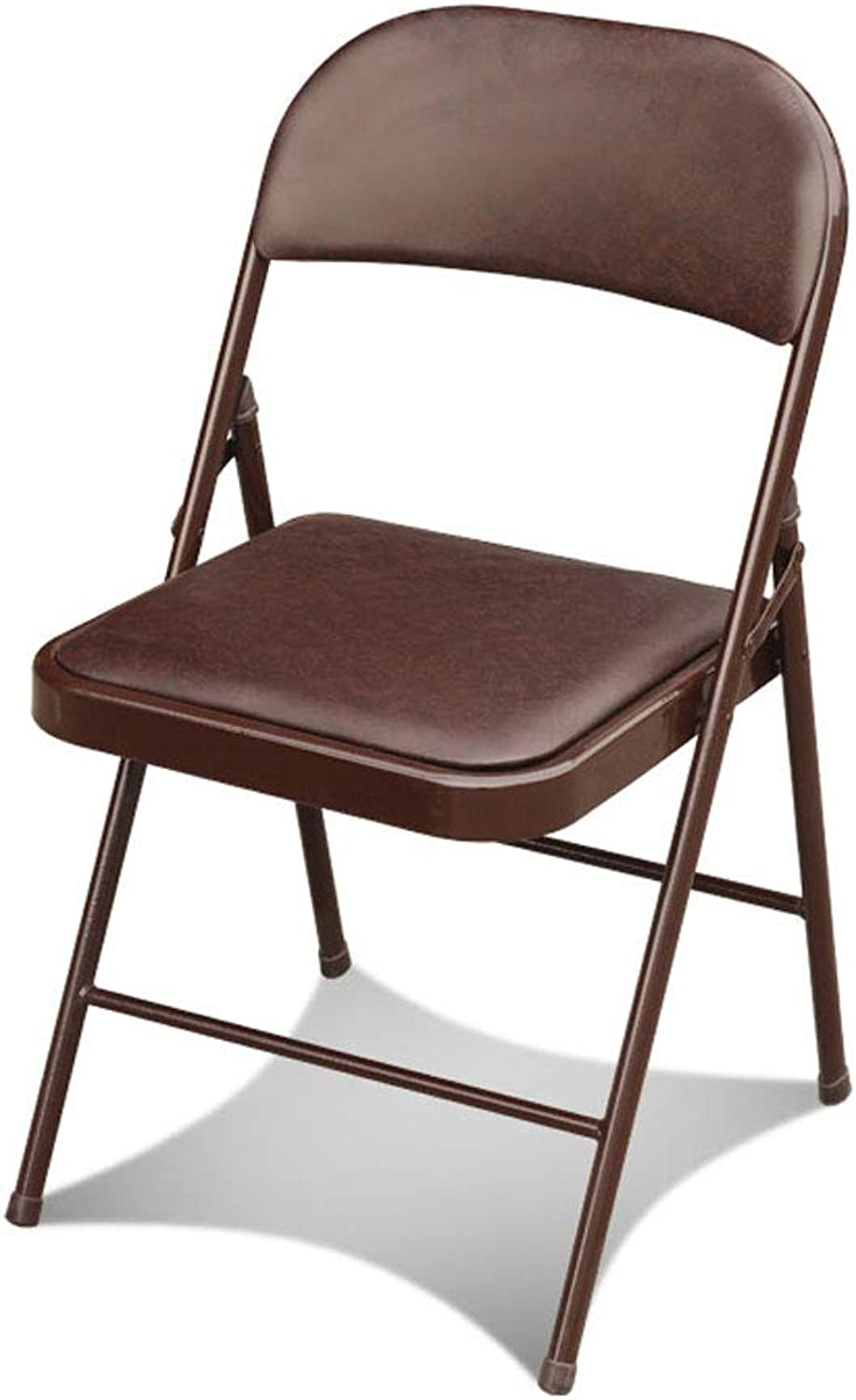 CHX Folding Back Home Dining Chair Sleek Minimalist Stool Office Meeting Chair C (color   Brown)