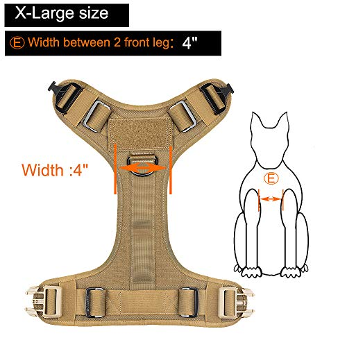 Product Image 2: ICEFANG Tactical Dog Harness with 2X Metal Buckle,Dog Walking <a href=