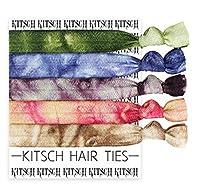 (キッチュ)Kitsch ヘアゴム ヘアタイ  5本セット Prints Hair Tie NATURAL TIE DYE