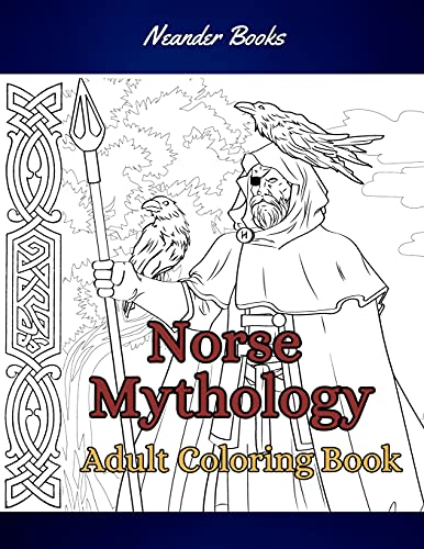 Norse Mythology: Coloring Book for Adults and Teens