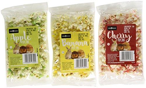 Little Friends Assortiment sachets de Popcorn pour Animal, Banane/Cerise/Pomme
