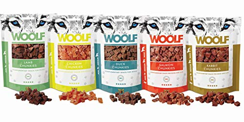 Woolf | 12er-Sparset Chunkies | Snack & Leckerei für Katzen & kleine Hunde