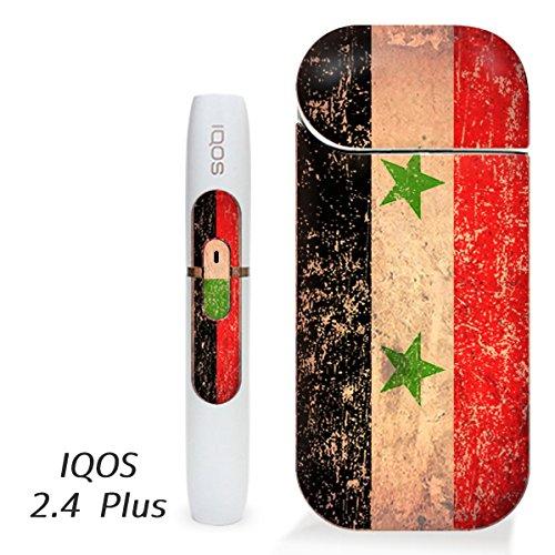 アイコス用 スキンシール ( 2.4Plus 用 ) シリア 国旗 (アンティーク) シール ステッカー iQOS用,
