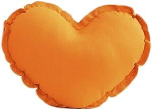 "ChezMax Cute Heart Shape Stuffed Plush Toy Soft Decorative Cushion Pillow Pet Gift for Kids Orange 15"""