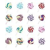 NBEADS 32 Piezas 8 Colores Colgantes de Piruletas de Arcilla Polimérica, Dijes Colgantes Hechos A Mano para Hacer Manualidades
