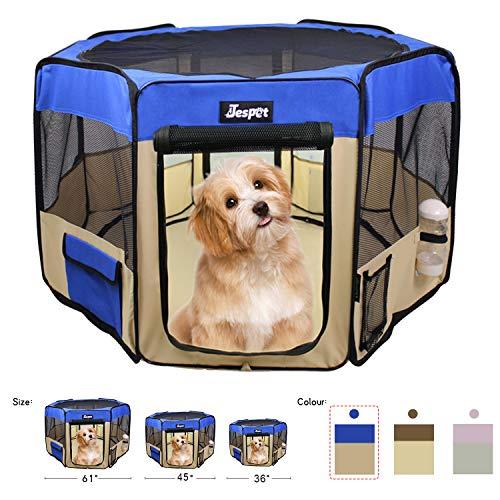 Jespet Soft Portable Dog Playpens