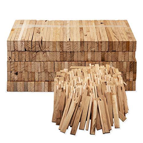 Aleko Premium 4 kg Brennholz bzw. Holzkohle - Anzünder aus Eichenholz, Bio Kaminanzünder, für Grill, Kamin, Ofen - perfekter Grillanzünder, getrocknetes und unbehandeltes Anmachholz