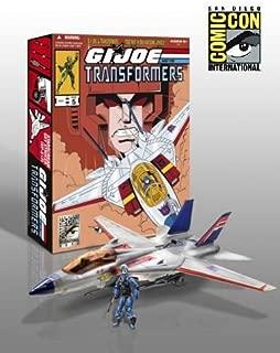 G.I. Joe Pursuit of Cobra SDCC 2011 San Diego ComicCon Exclusive 3 3/4 Inch Vehicle Skystriker Jet with Cobra Commander Starscream Repaint