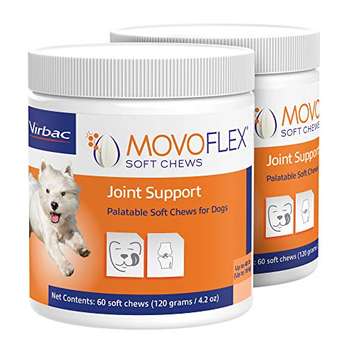 MOVOFLEX Joint Support Soft Chews for Dogs   Veterinarian Formulated, Gluten-Free   2-Pack (Small Dog)