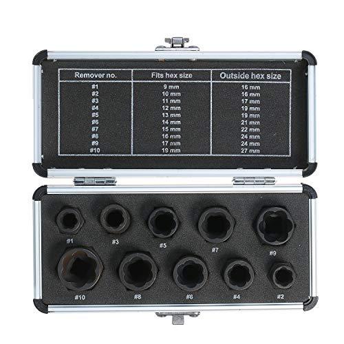 10pcs Hoch Bolt Kern Extractor 9-19mm Radsperre Kern Remover Ausziehsatz Handwerkzeuge Reparatur Werkzeuge