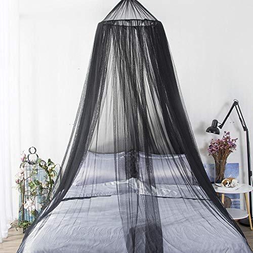Cúpula colgante en blanco y negro mosquitera princesa mosquitera cama con dosel mosquitera redonda cama individual mosquitera cama doble sin productos químicos
