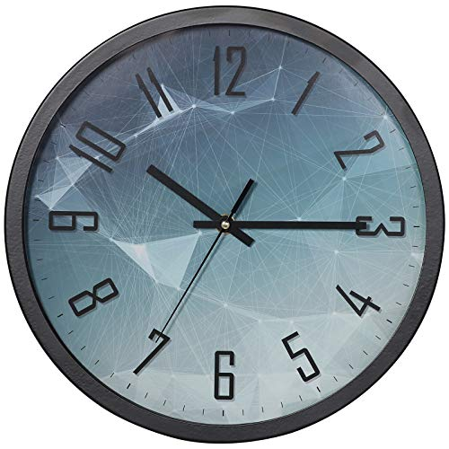 VECELO Wall Clock Silent, 30 CM Wall Clock Living Room Modern Quartz with Arabic Home/Kitchen/Office/School Clock