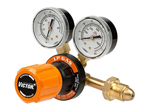 Victor Technologies 07819410 G25060510LP Medium Duty Single Stage LP Gas Regulator 60 psig Delivery Range CGA 510 Inlet Connection