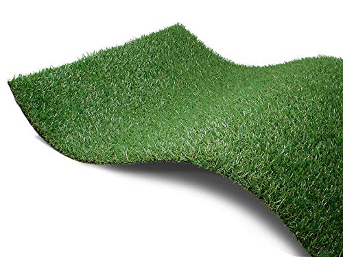 Kunstrasen Rasen-Teppich Meterware - PARKLAND, 2,00m x 0,50m, Höhe 22mm, UV-Beständiger, Wasserdurchlässiger, Outdoor Bodenbelag für Balkon, Terrasse und Garten