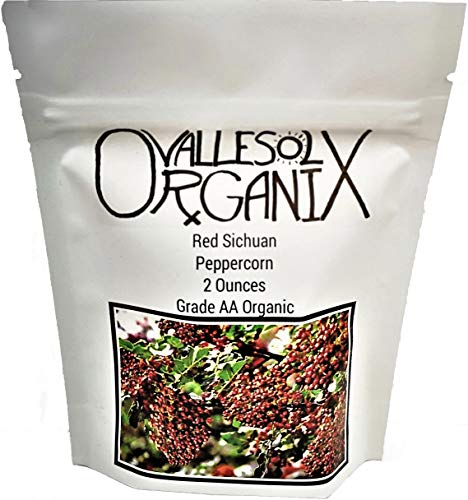 VSO Organic Red Sichuan Peppercorns Whole - Grade AA Non-GMO (2 oz.)