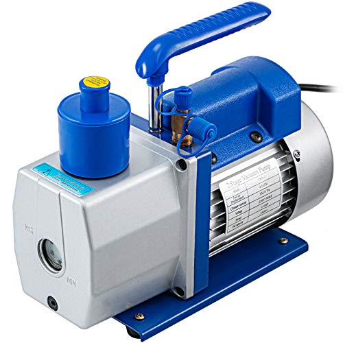 Frantools 4.5 CFM Refrigerant Vakuumpumpe Drehschieber 2-stufig 0.3Pa Klimaanlage 128L/Min