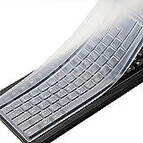 Clear Desktop Computer Keyboard Cover Skin for PC 104/107 Keys Standard Keyboard, Anti Dust Waterproof Keyboard Protector Skin