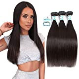 Lakihair Virgin Straight Hair 16' 18' 20' Brazilian Straight Hair 3 Bundles Unprocessed Virgin Human Hair Grade 8A Natural Hair Bundles
