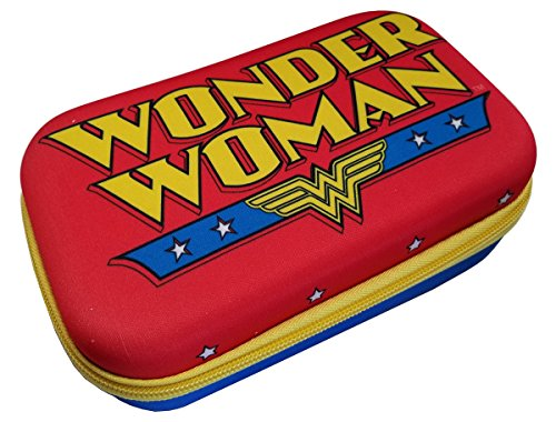 Character Pencil Case - Hard Shell Pencil/Storage Box (Wonder Woman)