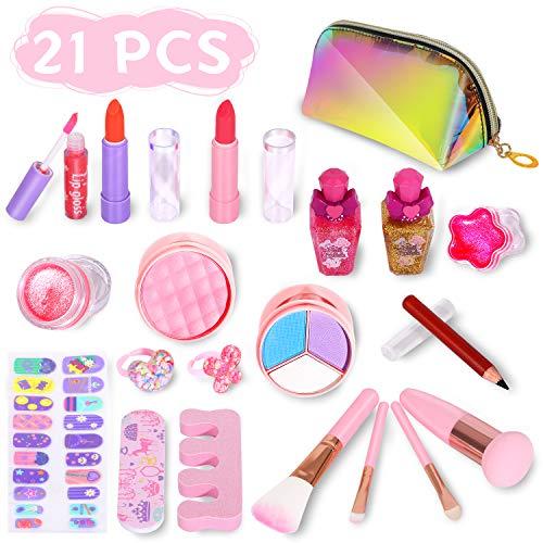 ARANEE 21PCS Juego Maquillaje niños niñas, Kit Juguete