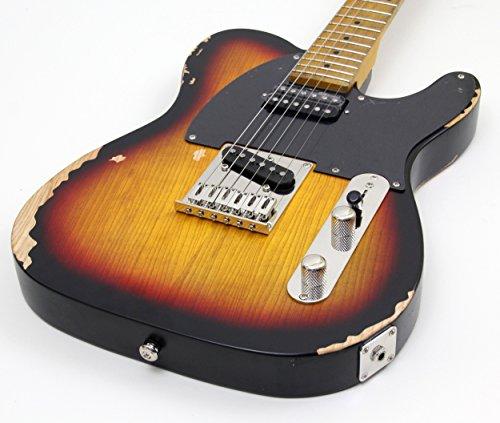 ESP LTD TE Series TE-254 Guitarra eléctrica zurda, 3 tonos de ráfaga