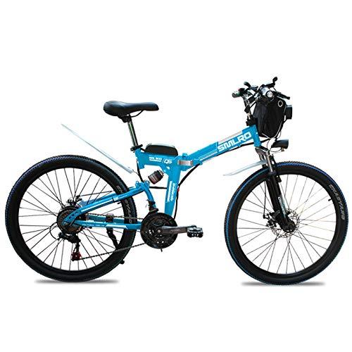Knewss 26 Zoll zusammenklappbare leistungsstarke Elektrofahrräder Mountain Fat Scooter Erwachsene Fahrrad E-Bikes Eletric City Bike 48V 13AH 500W-48V10AH500W