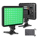 Sutefoto Full Color RGB Camera Video Light Panel de iluminación para cámara DSLR Videocámara...