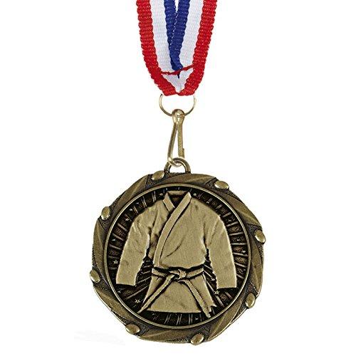 Trophy Martial Arts Medaille mit Band, 45mm, kostenlose Gravur bis zu 30Buchstaben