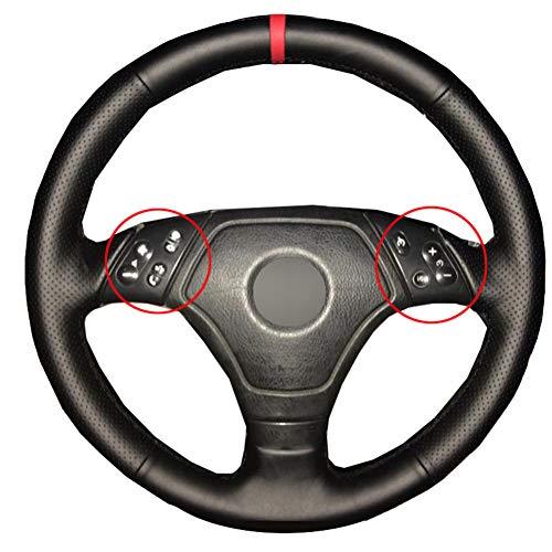 JJKTCV Hand nähen Autolenkradabdeckung Geflecht am Lenkrad Autozubehör, Für BMW E36 E46 E39