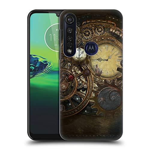 Officiële Simone Gatterwe Klokken Steampunk Hard Back Case Compatibel voor Motorola Moto G8 Plus