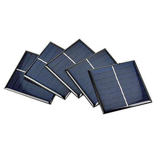AOSHIKE 5Pcs Mini Solar Panels Polycrystalline Solar Cells 70x70MM 4V 140MA DIY Solar Panels