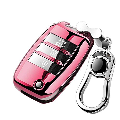 HJPOQZ Mando a Distancia Proteger KeychainTPU Plegable Car Key Cover Protection, para KIA SID Rio Soul Sportage Ceed Sorento CeratoK2 K3 K4 K5