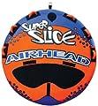 Airhead Super Slice | 1-3 Rider Towable Tube for Boating, Orange, Three person
