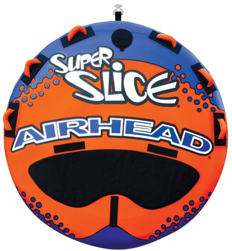 Airhead Super Slice | 13 Rider Towable Tube for Boating Orange Three person