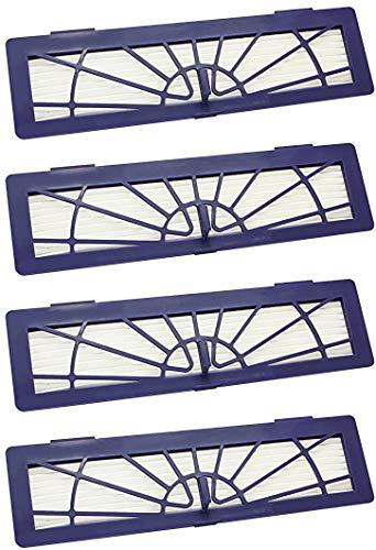 4 pcs High-Performance Filtro Ricambio per Neato Botvac Connected D3 D5 & Botvac D Serie D75 D80 D85 & alle Neato Botvac Typen 70e 75 80 85 Neato Robotics Accessori Kits