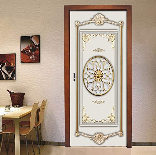 PVC Self-Adhesive Waterproof Mural Wallpaper 3D Golden Art Door Sticker Modern Creative DIY Wohnzimmer Schlafzimmer Aufkleber Poster