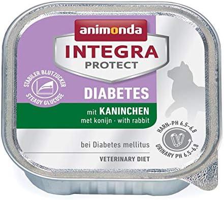 animonda Integra Protect Diabetes para gatos, comida dietética para gatos, comida húmeda para gatos con diabetes mellitus, con conejo, 16 x 100 g