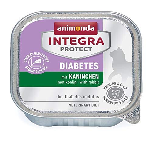 animonda Integra Protect Diabetes Katze, Diät Katzenfutter, Nassfutter bei Diabetes mellitus, mit Kaninchen, 16 x 100 g