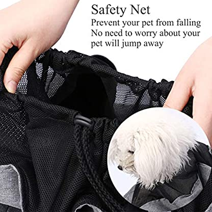Musonic Pet Carrier, Hand Free Sling for Small Dog Cat Adjustable Cotton Padded Strap Outdoor Travel Shoulder Bag Tote Bag Safety Net Front Zipper Pocket Breathable Oxford Fabric Under 13 LBS Dogs 3