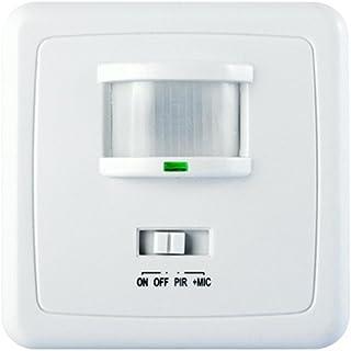 Maclean - Mce18 - Detector Sensor de Movimiento y Sonido de Pared 160° pir