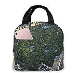 Bolsa de almuerzo con aislamiento de Central Park Manhattan para mujeres y hombres, bolsa de almuerzo reutilizable, organizador de caja de almuerzo, bolsa refrigeradora con bolsillo frontal